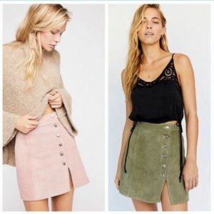 Free People SET OF 2 Leather Skirts NWOT